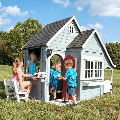 Outdoor Cedar Cottage Playset Discovery