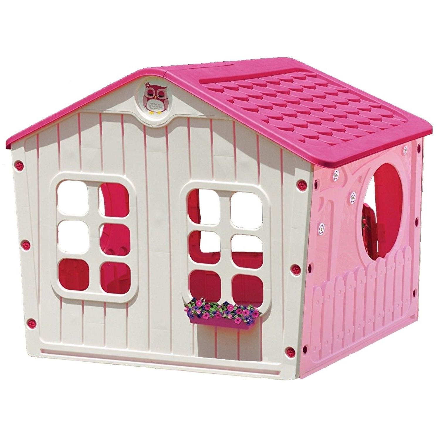 Outdoor Pink Playhouse Princess Village House Cottage Castle Large