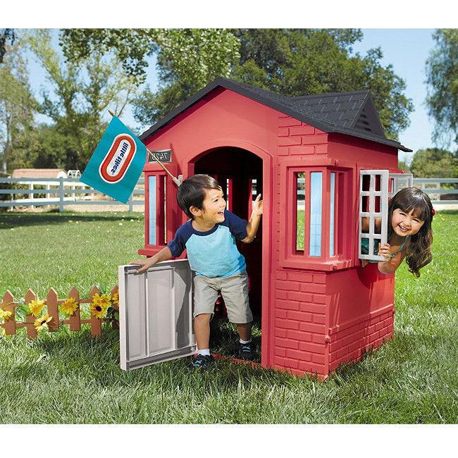 Outdoor Playhouse Toddler Kids Cottage Boys Pretend