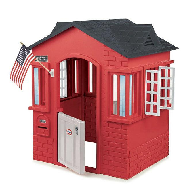 Outdoor Playhouse Cottage Pretend Play Red