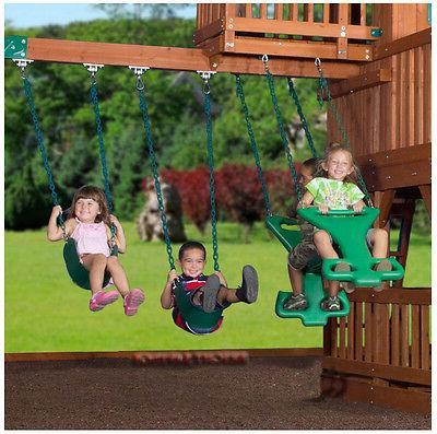 Outdoor Wooden Swing Toy PlaySet with