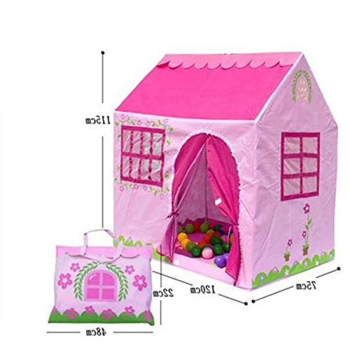 pink house pop play tent