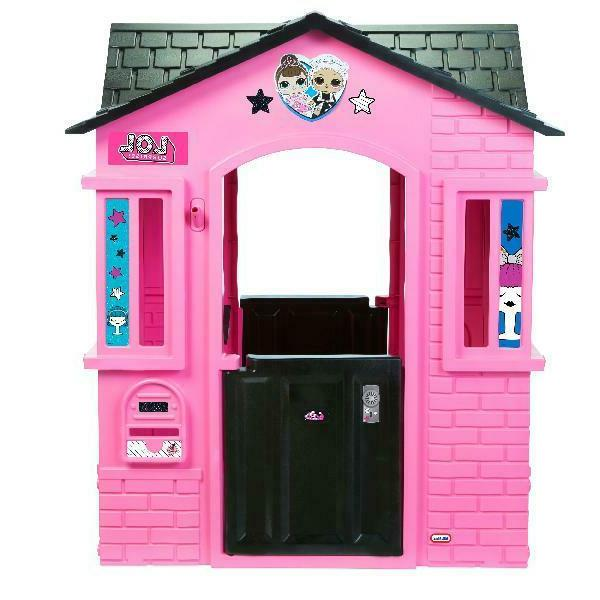 Pink with Glitter Kids Play House Home