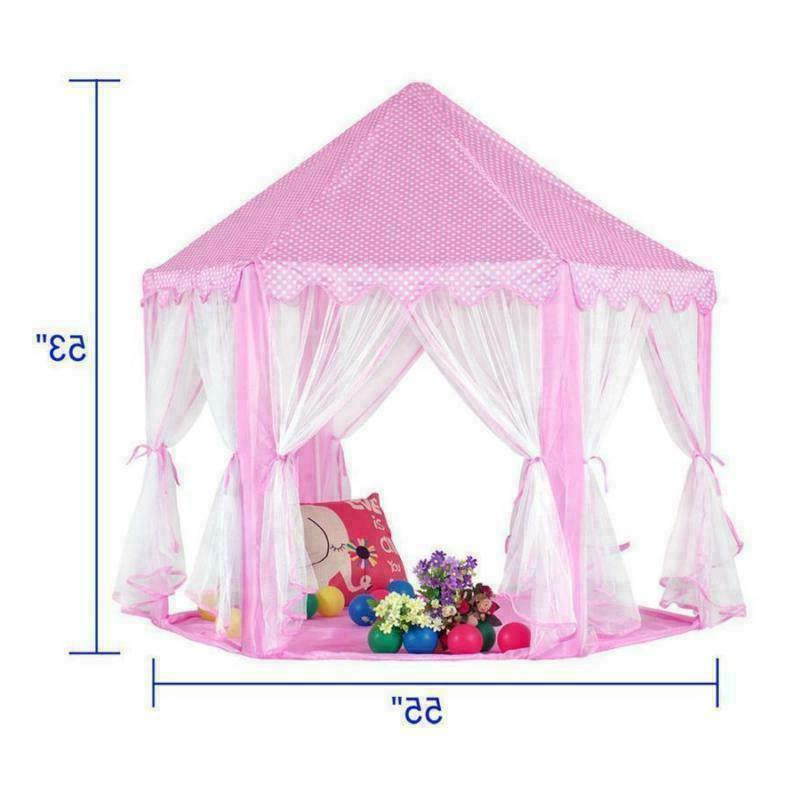 Pink Tent Princess Castle Playhouse In/Outdoor Play