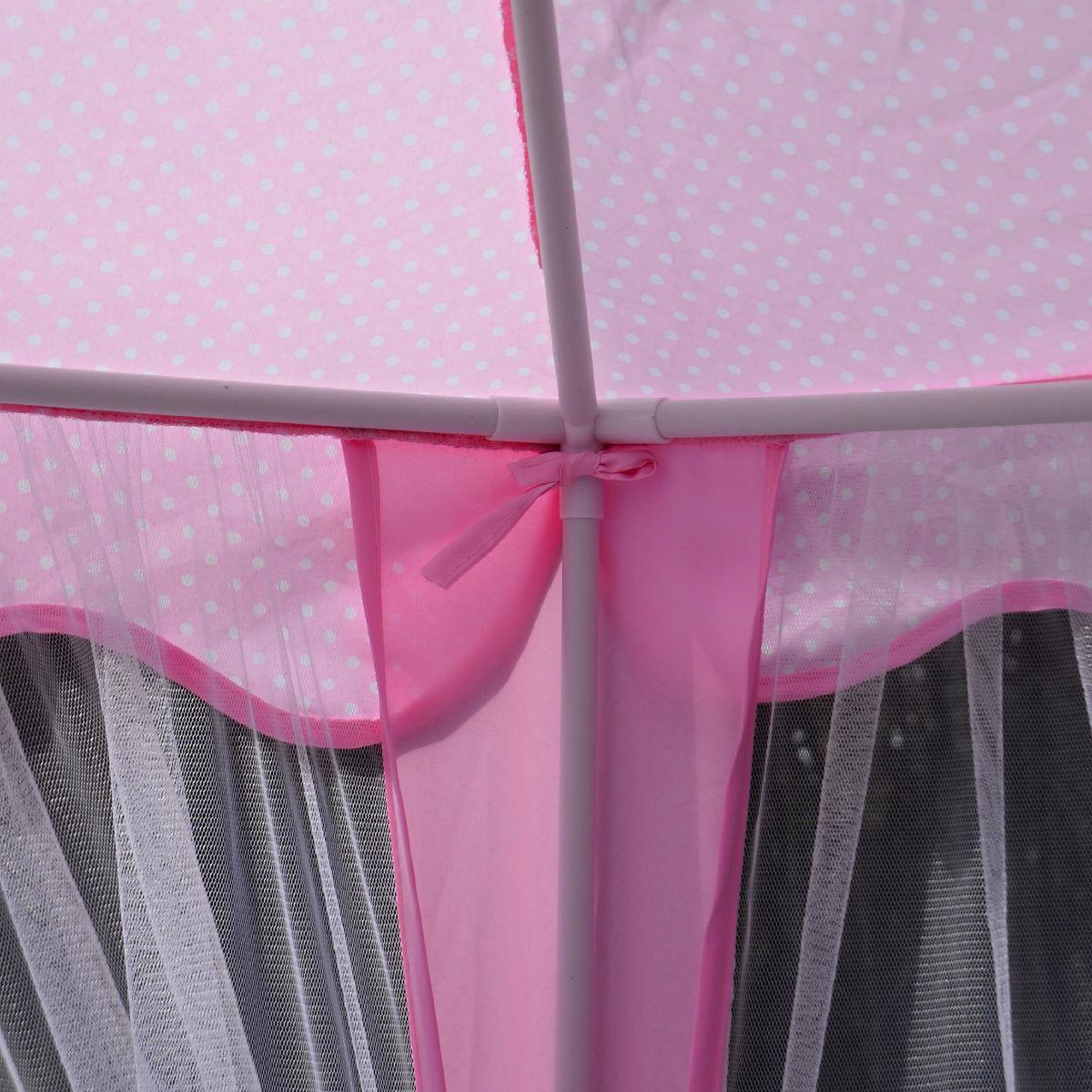 Pink Tent Castle Girls Playhouse In/Outdoor