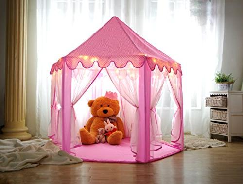 Monobeach Princess Tent - and Outdoor Pink Castle Play Tent Girls with