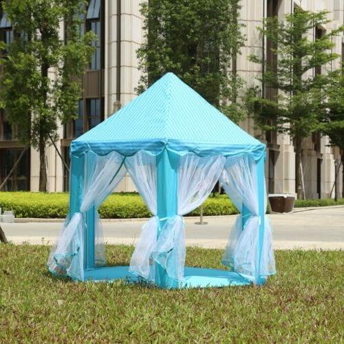 Play Tent Blue Cute Playhouse Outdoor