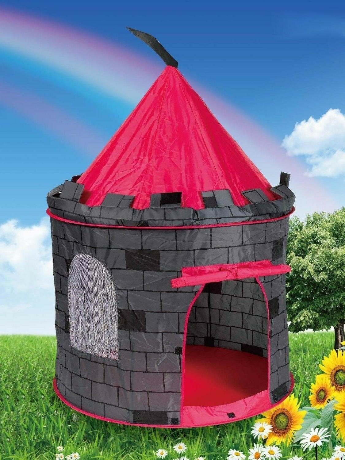 Playhouse Castle Pop Up Play Tent Tunnel Outdoor In Door Hou