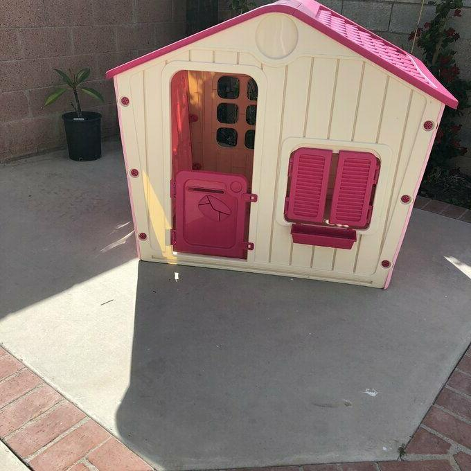 Playhouse Pink Kids Children Playground Home