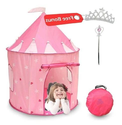 playhouse princess castle kids play tent indoor