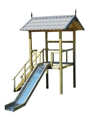 playhouse slide plans diy children outdoor playset