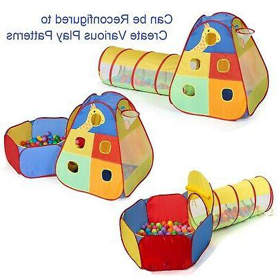 Utex Pop up Play Tent Tunnel and Pit and Fold