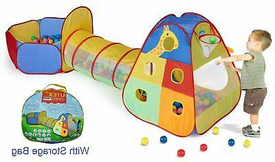 pop up kids play tent with tunnel