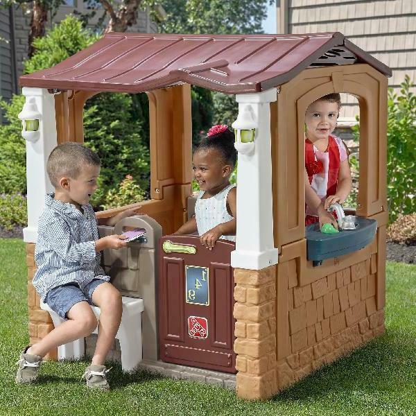 porch view playhouse furniture kids outdoor activity