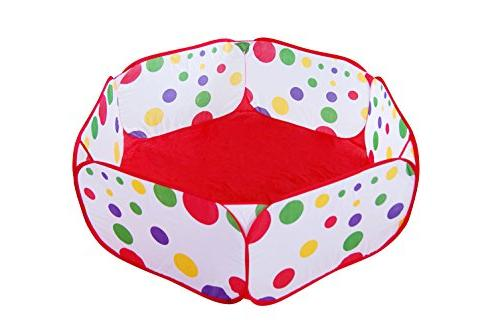 Maxmaxi Folding Polka Dot Playpen Pools Playhouse