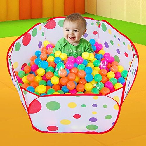 Maxmaxi Folding Colorful Polka Dot Children Playpen Playhouse