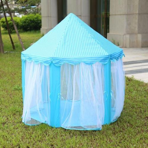 Portable Play House Blue Indoor/Outdoor Kids