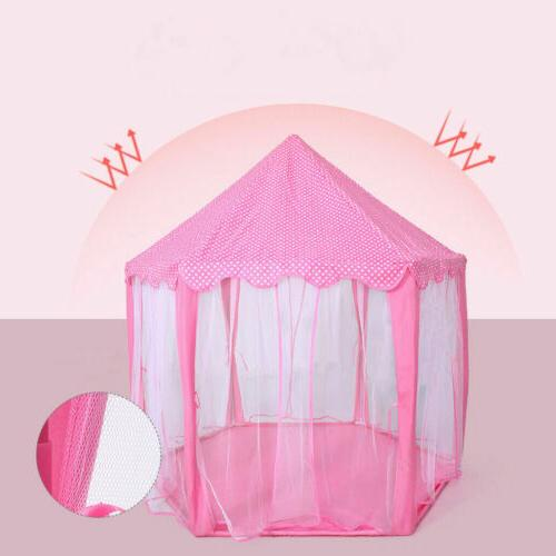 Portable Princess Pink Indoor/Outdoor Fairy Tent for