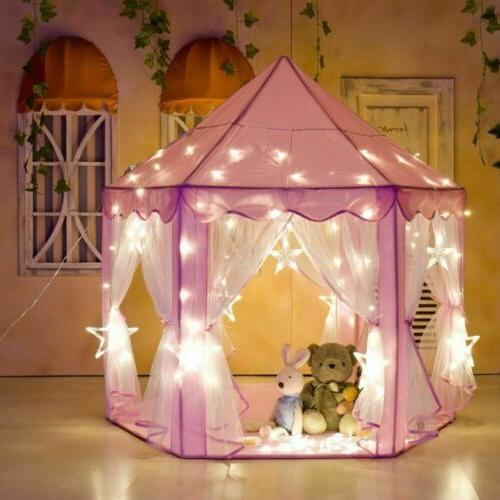 Portable Playhouse Pink Fairy Tent Girls