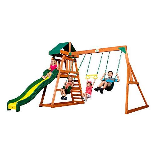 Backyard Discovery Prescott All Cedar Wood Playset Swing