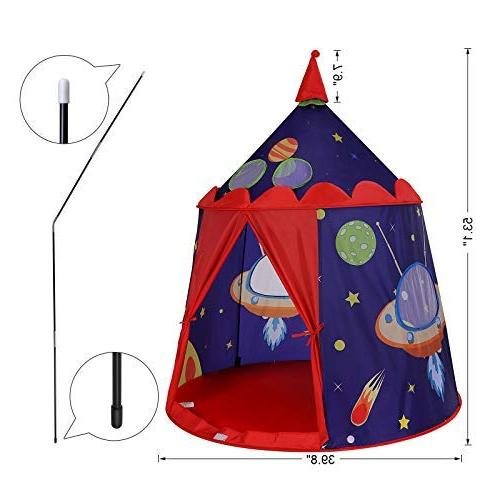 SONGMICS Prince Tent Boys Indoor and Portable Teepee with Carry F963 Blue ULPT01BU