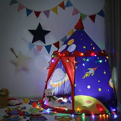 SONGMICS Prince Castle Play Tent for Boys Portable Pop Teepee Gift Kids, ASTM F963 Certified, ULPT01BU