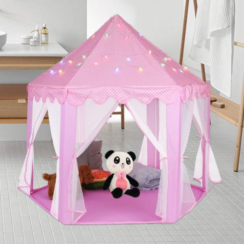 Princess Castle Play Indoor/Outdoor Tent & 6M LED Light