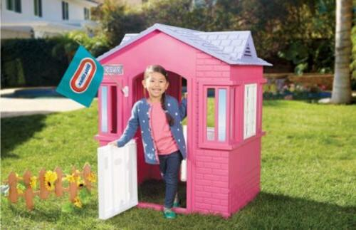 Little Playhouse Outdoor Entertainment Toddlers, Pink