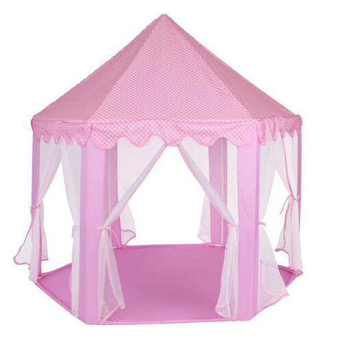 Princess Girls Castle Play House Pink Indoor/Outdoor Play