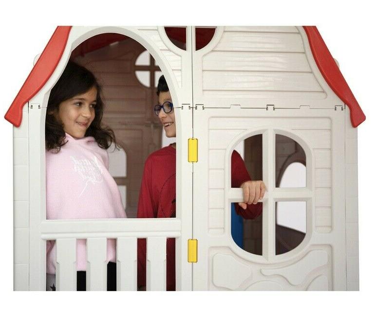 Ram Quality Kid's Cottage Plastic Outdoor Playhouse