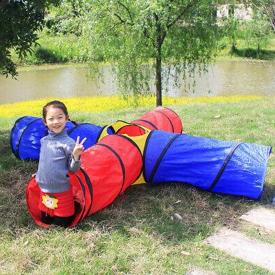 folding polyester kids play tunnel tents playhouse
