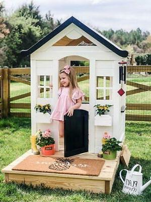 Rustic Solid Playhouse Kids Natural Finish ASSEMBLY