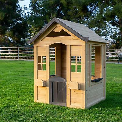 Rustic Solid Wood Kids Outdoor Play Natural Finish