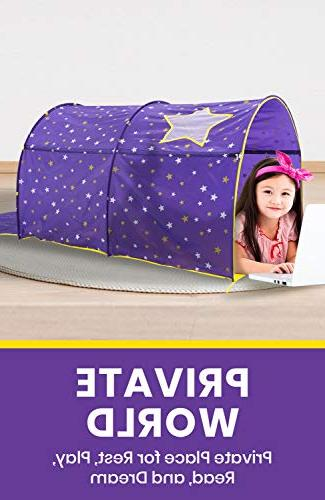 Alvantor Bed Play Privacy Space Twin Sleeping Grow in The Stars Boys Pop Portable Curtains Patent Pending