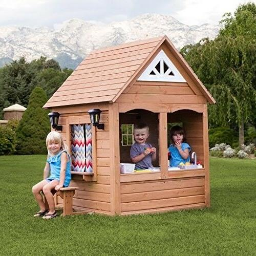 Step2/Backyard Discovery Sunny All Cedar Playhouse, Brown/Tan