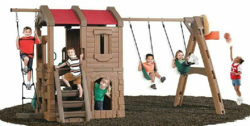 Step2 Lodge Swing Set And Play