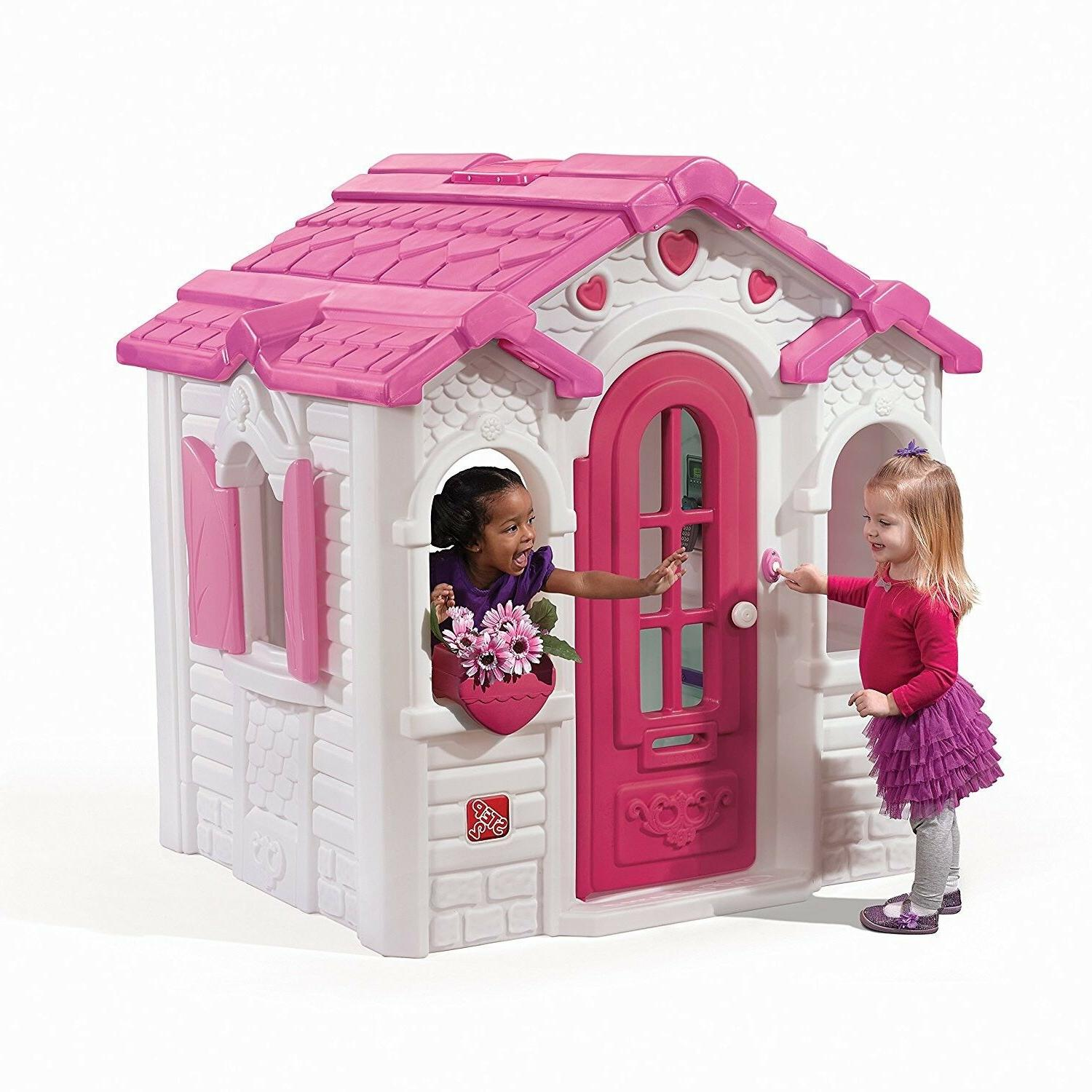sweetheart playhouse pink and white playhouse clubhouse