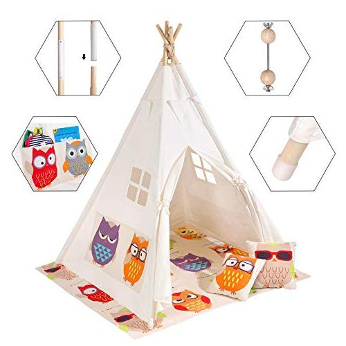 SONGMICS Play for with Floor Mat, Pillows, Decoration Flags, Space Up 3