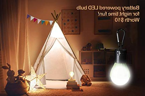 Play Raw White Four Wooden Poles Cushion Mat LED Banner Outdoor and Boys Childrens Decor