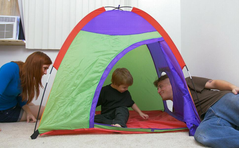 tent colourful curvy play