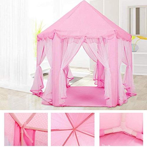 Anyshock Kids Tent, Castle House Tent Dollhouse Outdoor Indoor Great Old Kids/boy/Girls/Baby/Infant