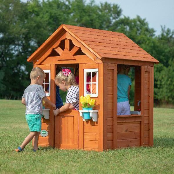 timberlake cedar wooden playhouse outdoor toy cottage