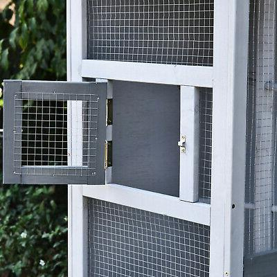 Pawhut 4 Perch Outdoor Cage, Featuring a