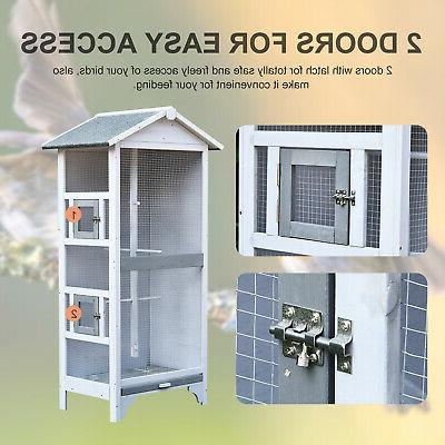 Pawhut Outdoor Cage, a Large Play House