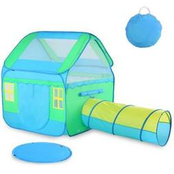 Large Kids Play Tent Children Pop-Up Playhouse Tent Tunnel T