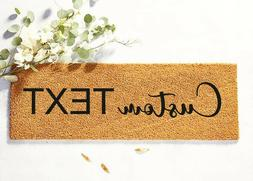 Last Name Sign, Wedding gift, Skinny Doormat,Personalized Do