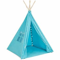 Best Choice Products 6ft Kids Cotton Canvas Indian Teepee Pl