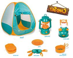 Little Explorers Pop Up Play Tent with Camping Gear Toy Tool