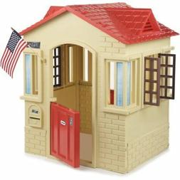 little tikes cape cottage playhouse tan red