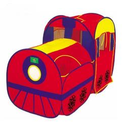 Locomotive Play Tent and Tunnel Pop-Up Red Train - Indoor/Ou